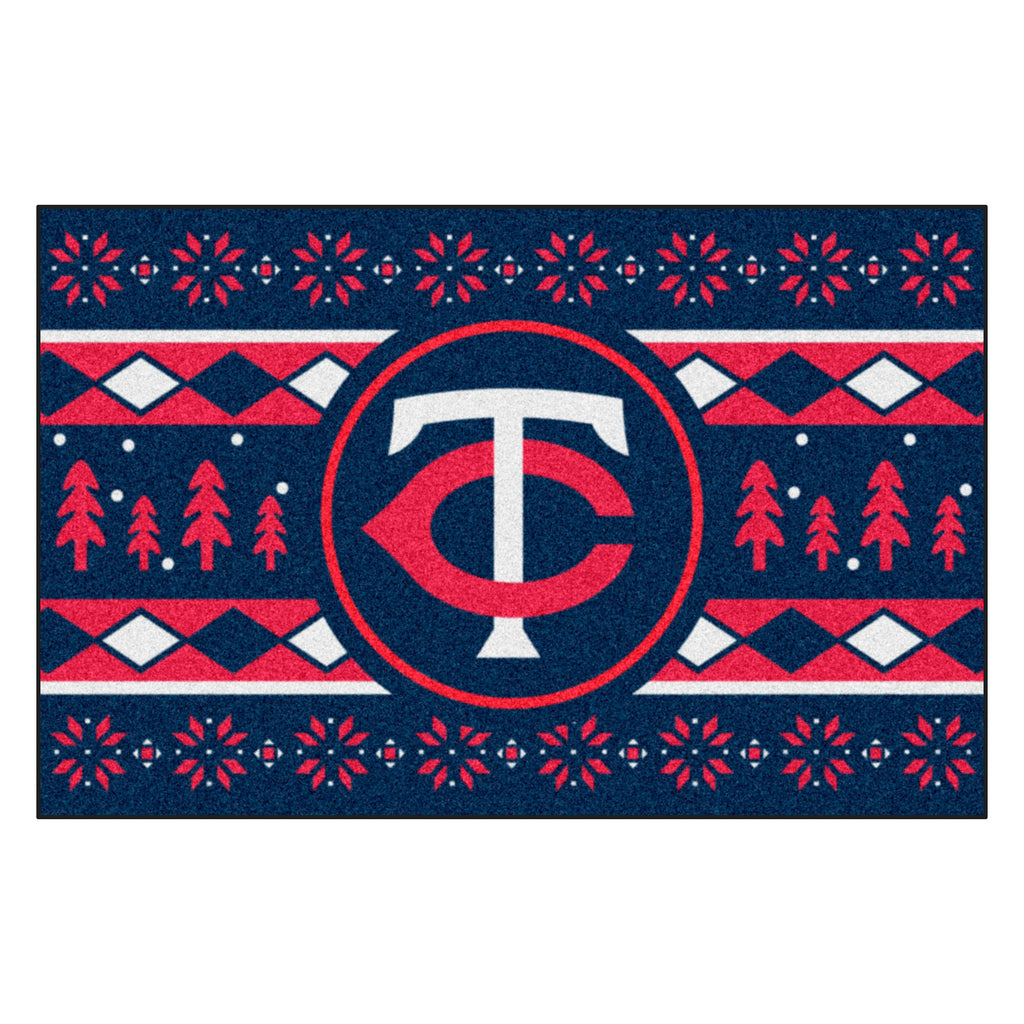 MLB - Minnesota Twins Holiday Sweater Starter Mat