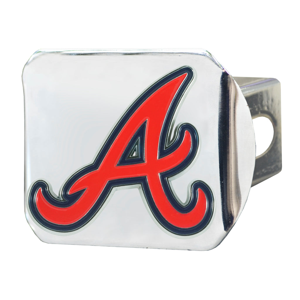 MLB - Atlanta Braves Color Hitch Cover - Chrome