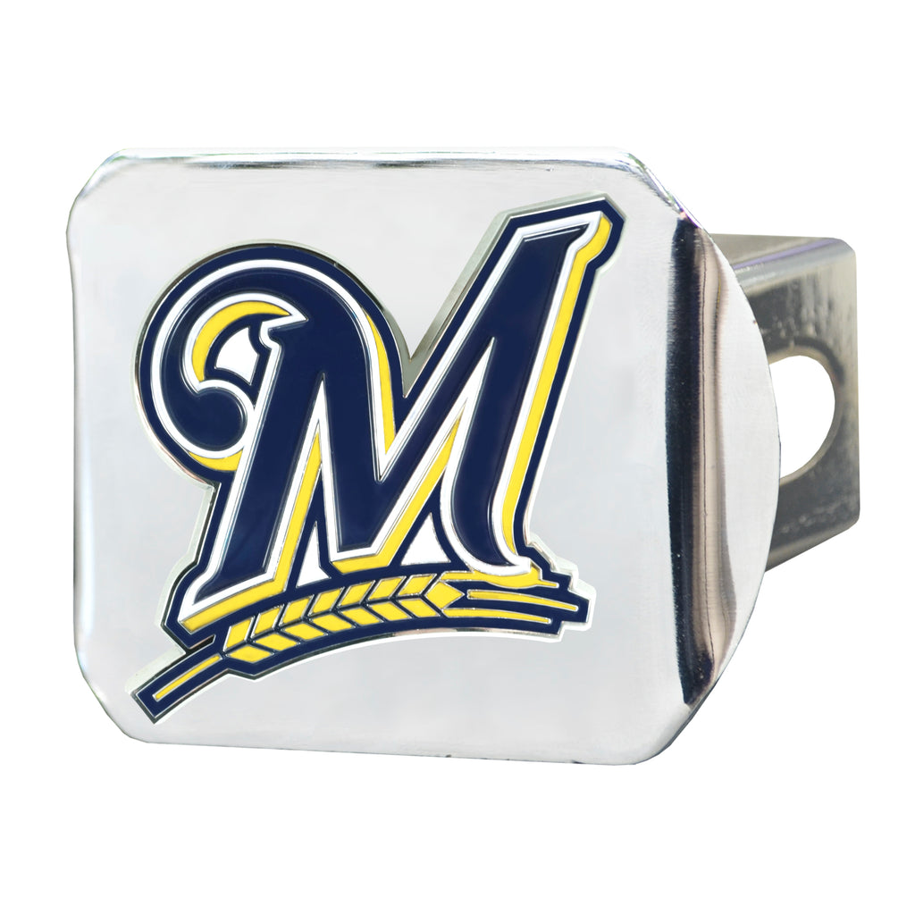 MLB - Milwaukee Brewers Color Hitch Cover - Chrome