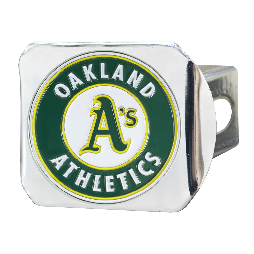 MLB - Oakland Athletics Color Hitch Cover - Chrome