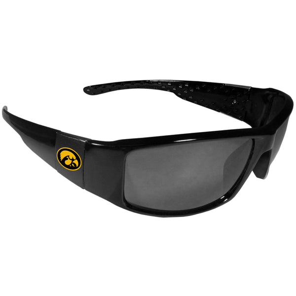 Iowa Hawkeyes Black Wrap Sunglasses