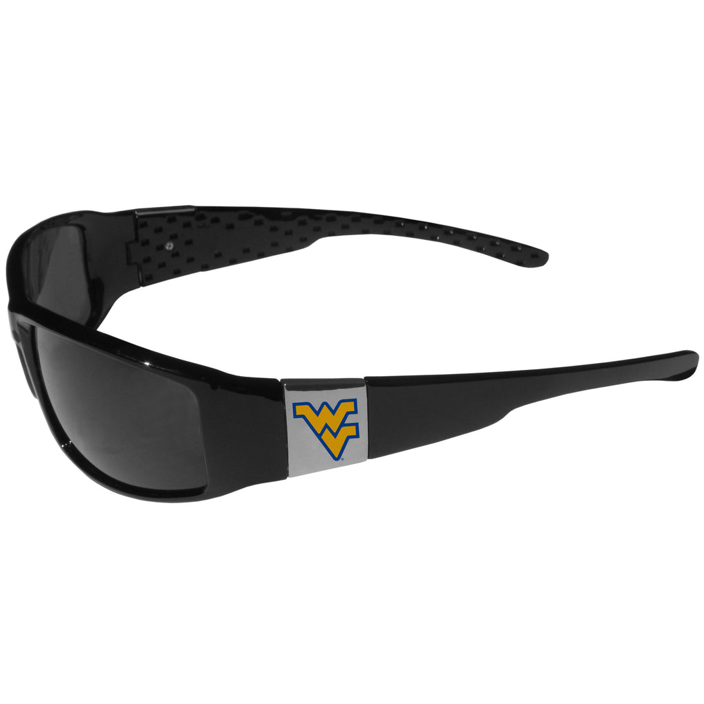 W. Virginia Mountaineers Chrome Wrap Sunglasses