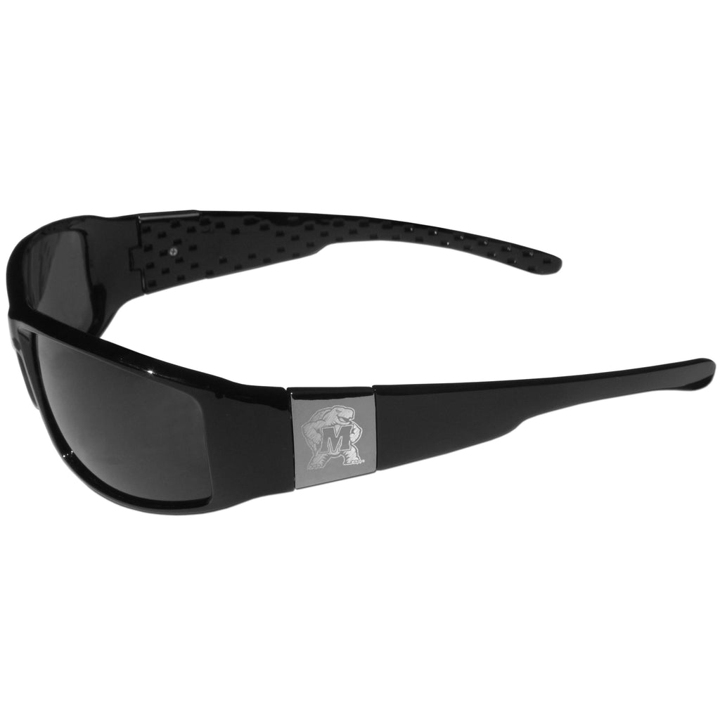 Maryland Terrapins Etched Chrome Wrap Sunglasses
