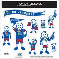 Kansas Jayhawks Family Decal Set Large