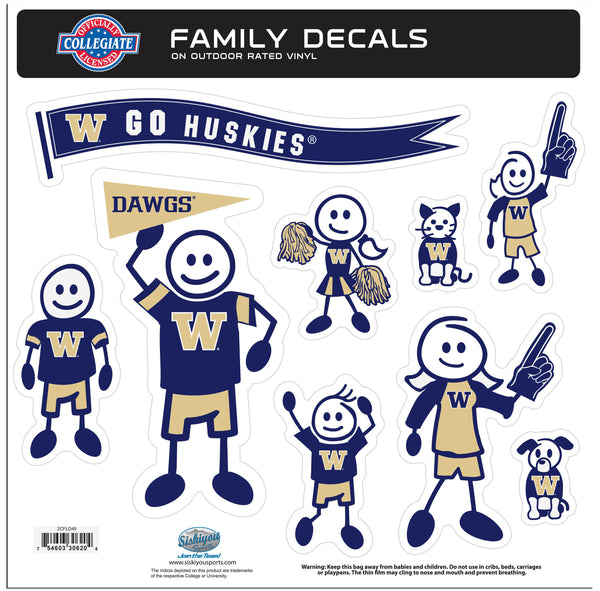 Washington Huskies Family Decal Set Large
