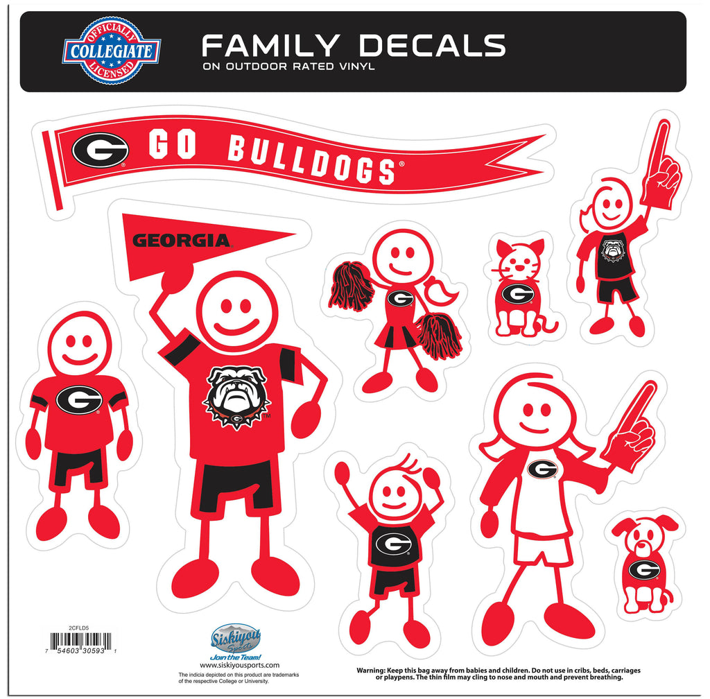 Georgia Bulldogs Family Decal Set Large