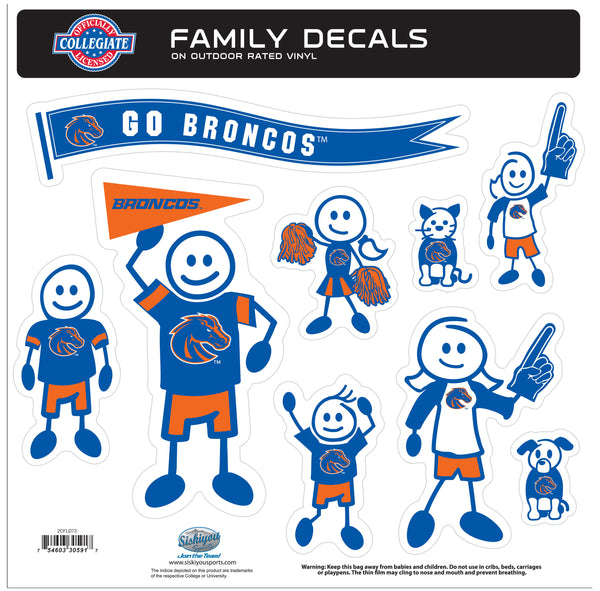 Boise St. Broncos Family Decal Set Large