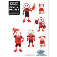 Texas Tech Raiders Family Decal Set Small
