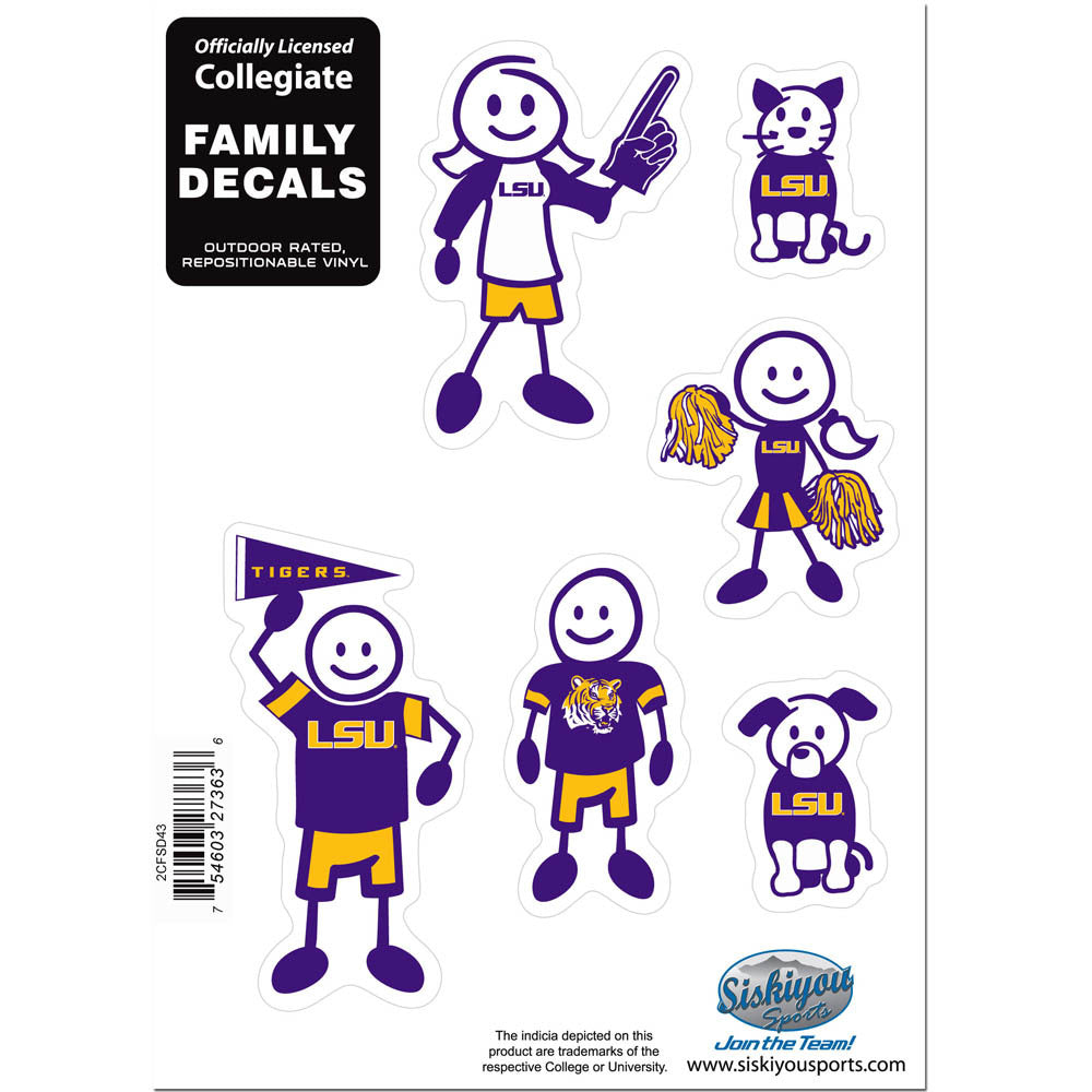 LSU Tigers Family Decal Set Small