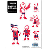 Mississippi Rebels Family Decal Set Small