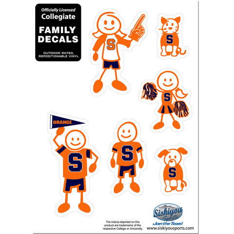 Syracuse Orange Family Decal Set Small