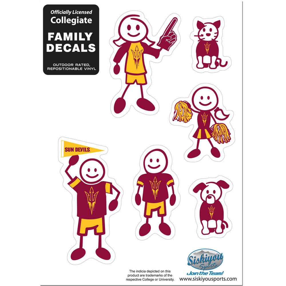 Arizona St. Sun Devils Family Decal Set Small