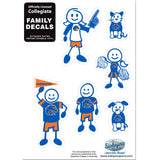 Boise St. Broncos Family Decal Set Small