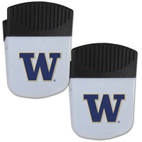 Washington Huskies Chip Clip Magnet with Bottle Opener, 2 pack