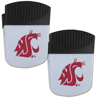 Washington St. Cougars Chip Clip Magnet with Bottle Opener, 2 pack