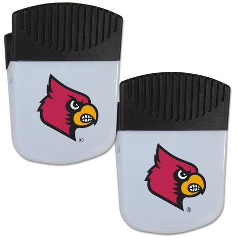 Louisville Cardinals Chip Clip Magnet with Bottle Opener, 2 pack