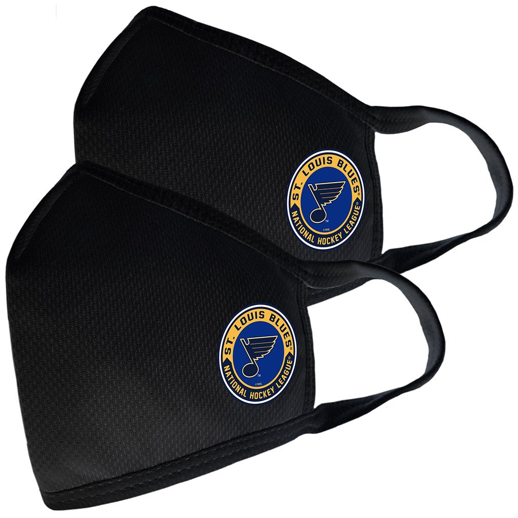 2 Pack Washable Reusable Fabric Face Cover w/Dust Filter Pocket – St. Louis Blues