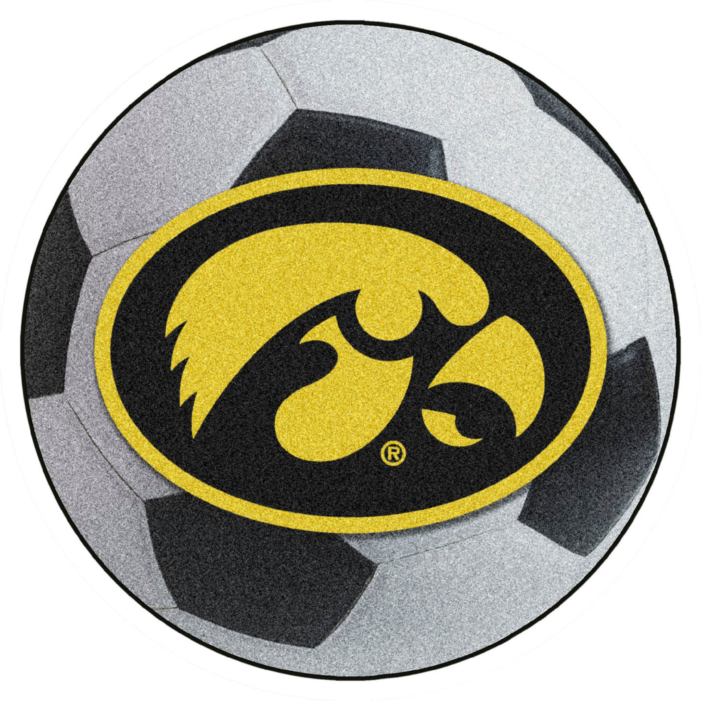University of Iowa Soccer Ball Mat