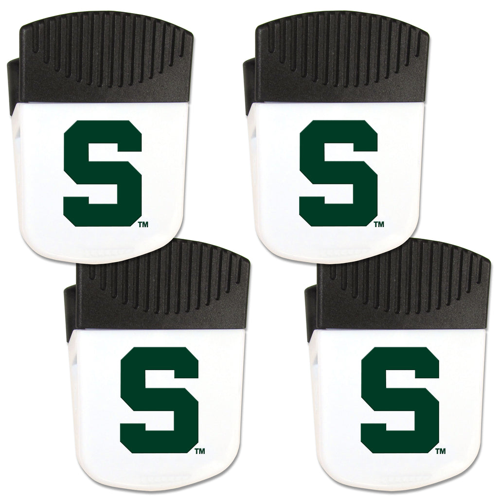 Michigan St. Spartans Chip Clip Magnet with Bottle Opener, 4 pack