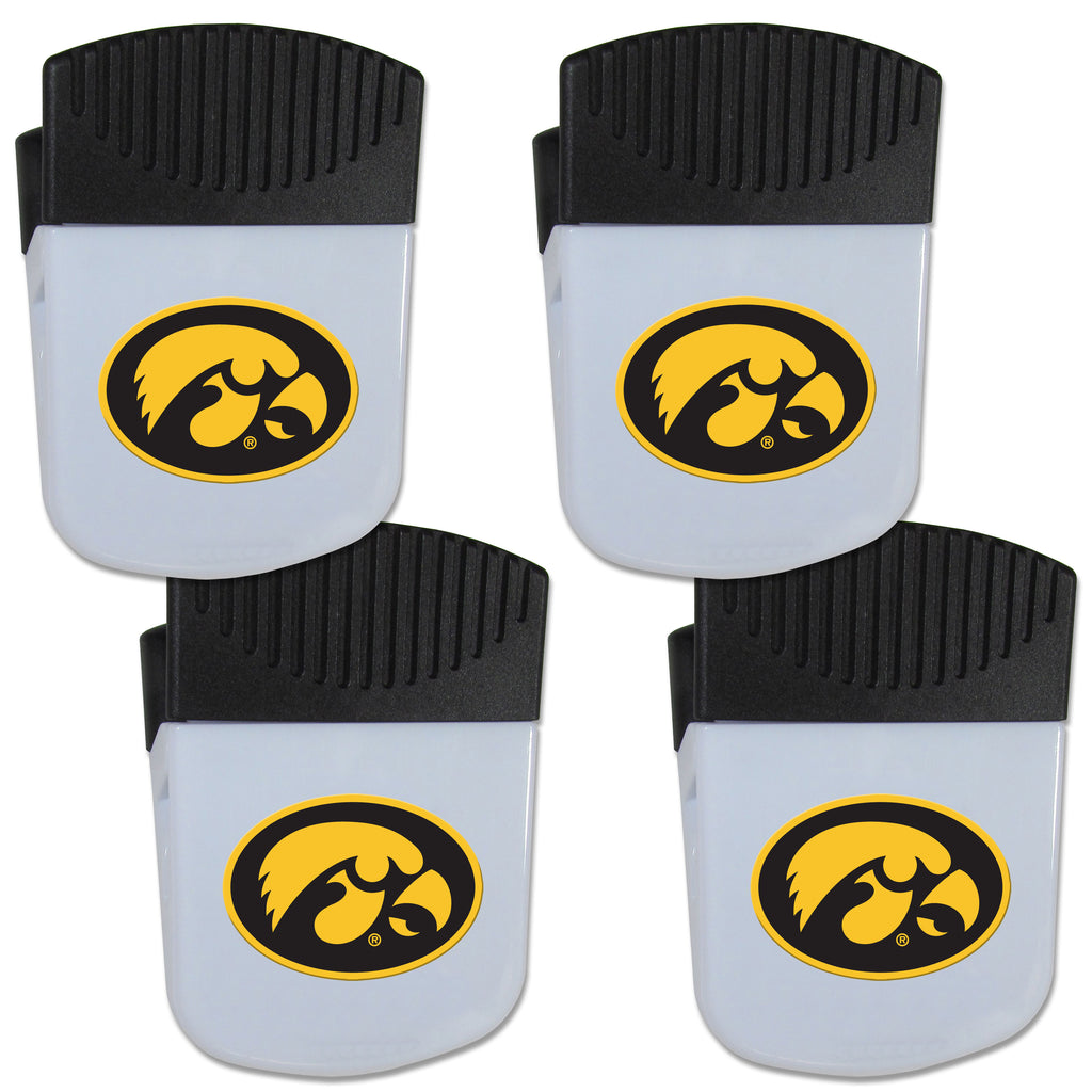 Iowa Hawkeyes Chip Clip Magnet with Bottle Opener, 4 pack