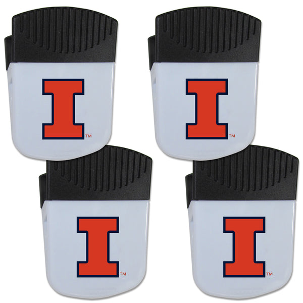 Illinois Fighting Illini Chip Clip Magnet with Bottle Opener, 4 pack