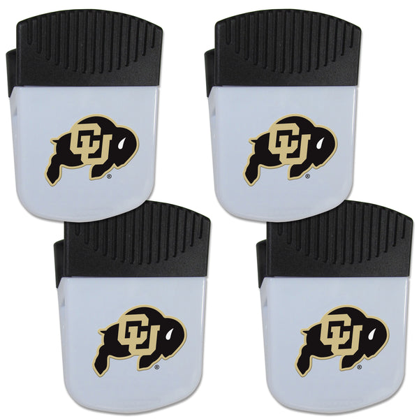 Colorado Buffaloes Chip Clip Magnet with Bottle Opener, 4 pack