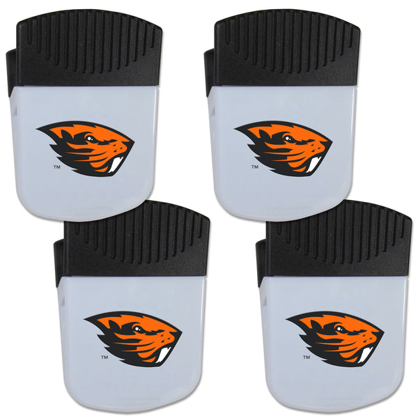 Oregon St. Beavers Chip Clip Magnet with Bottle Opener, 4 pack