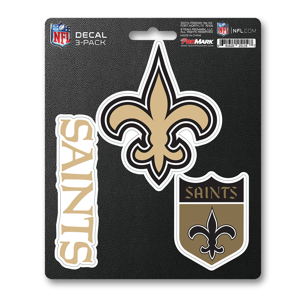 NFL - New Orleans Saints Decal 3-pk