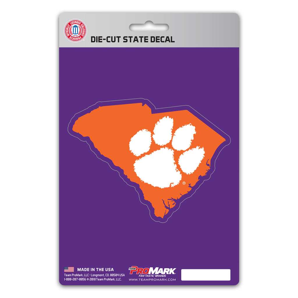 Clemson University State Shape Decal