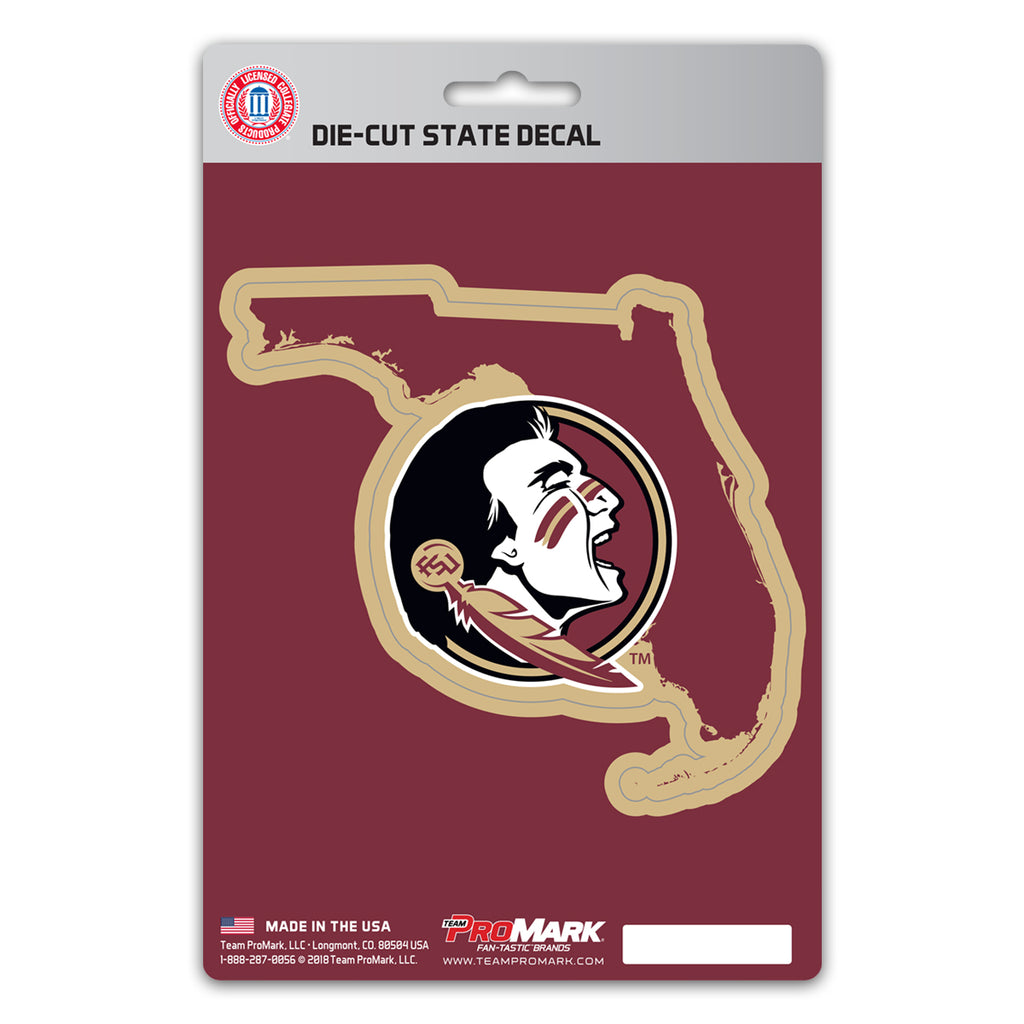 Florida State University State Shape Decal