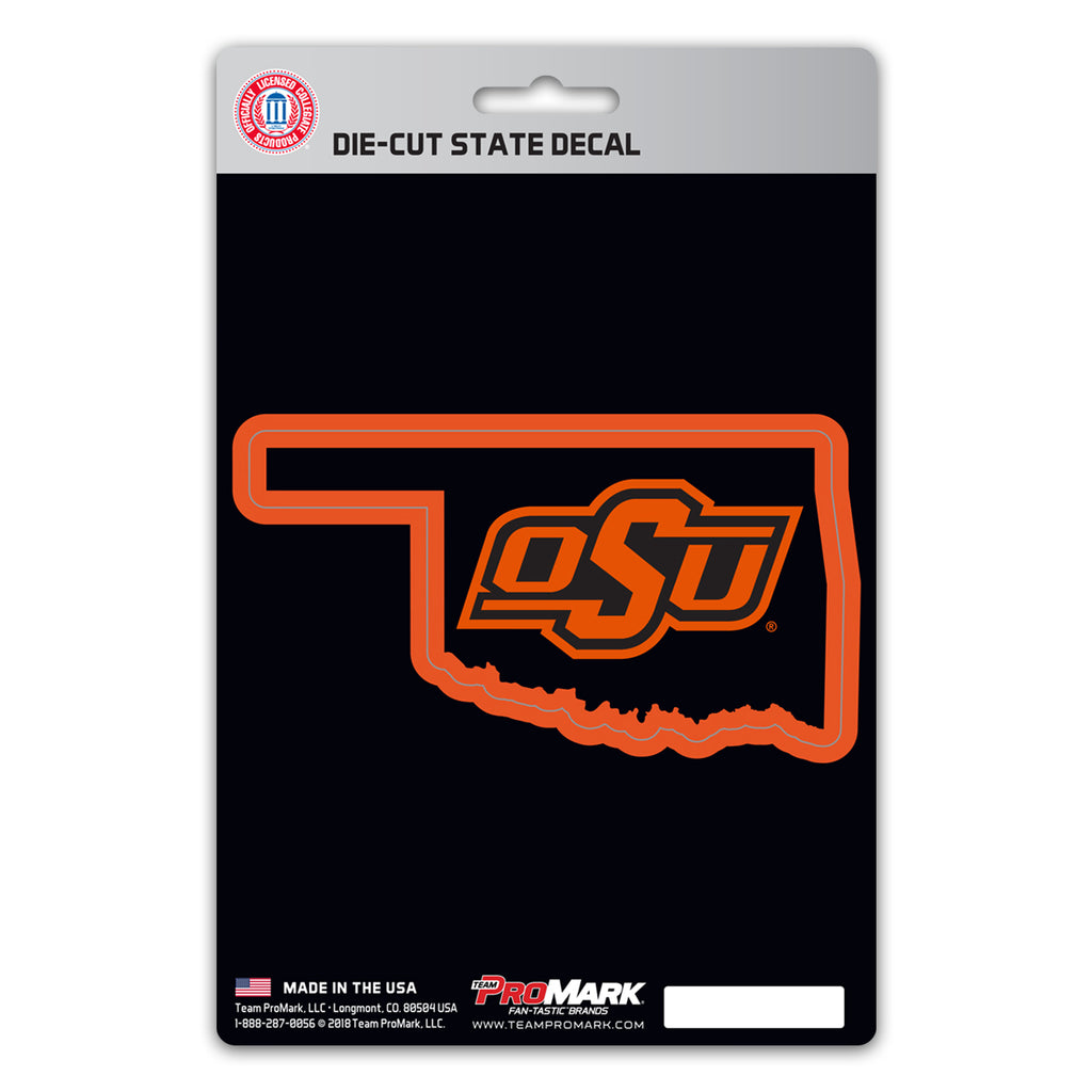 Oklahoma State University State Shape Decal
