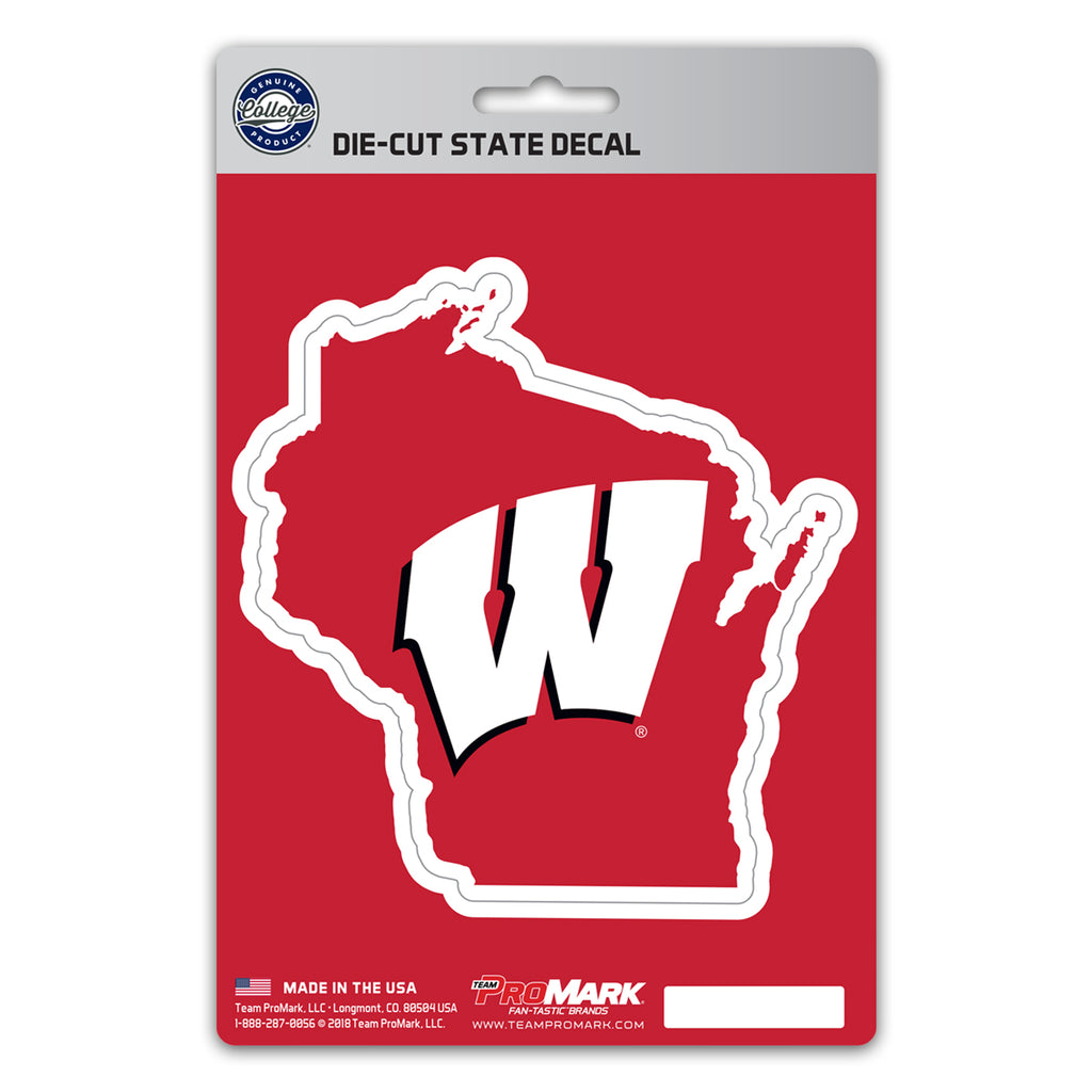 University of Wisconsin State Shape Decal