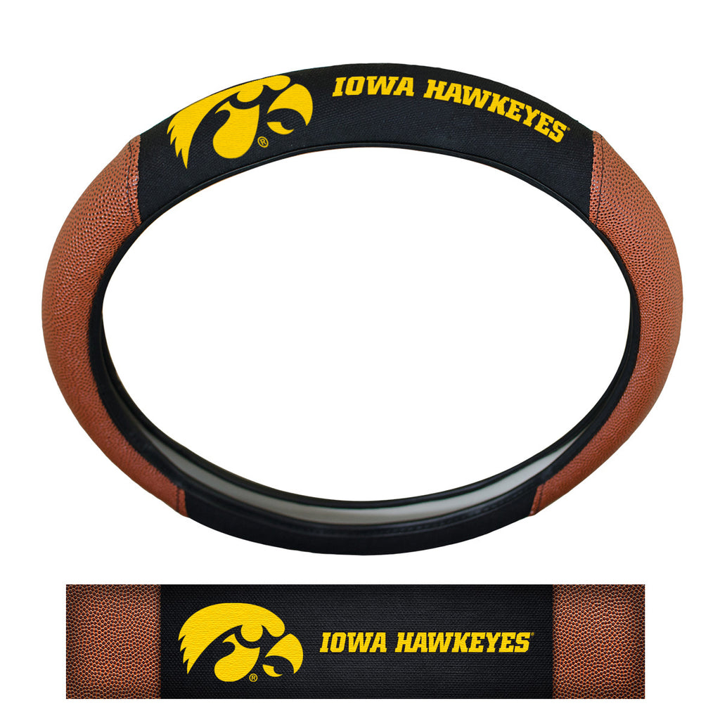 University of Iowa Sports Grip Steering Wheel Cover