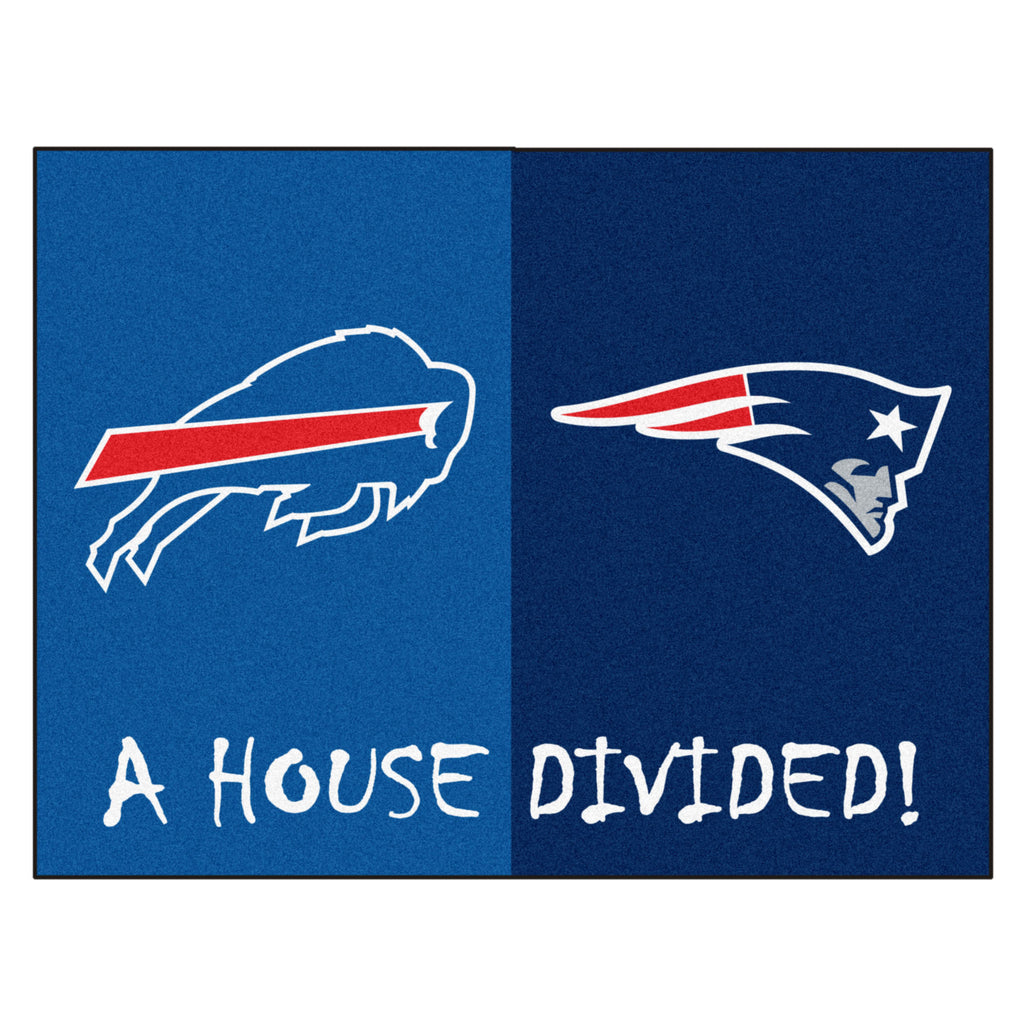 NFL House Divided - Patriots / Bills House Divided Mat
