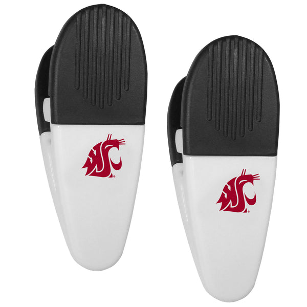 Washington St. Cougars Mini Chip Clip Magnets, 2 pk