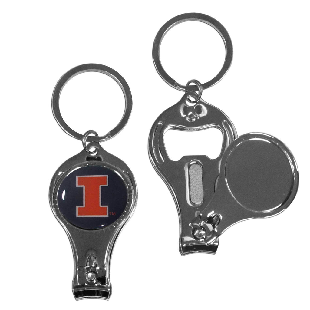 Illinois Fighting Illini Nail Care/Bottle Opener Key Chain
