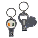 Miami Hurricanes Nail Care/Bottle Opener Key Chain