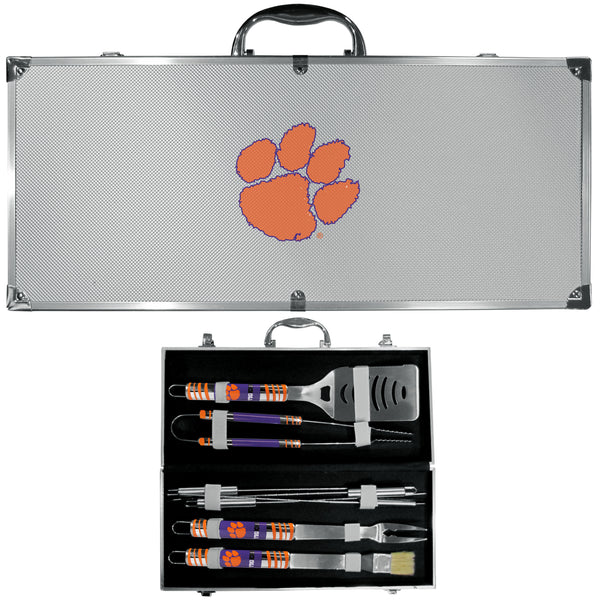 Clemson Tigers 8 pc Tailgater BBQ Set