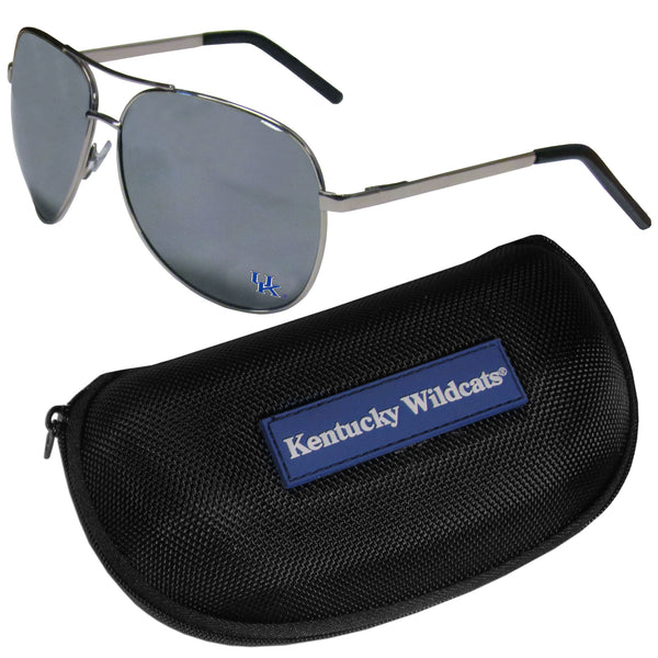 Kentucky Wildcats Aviator Sunglasses and Zippered Carrying Case