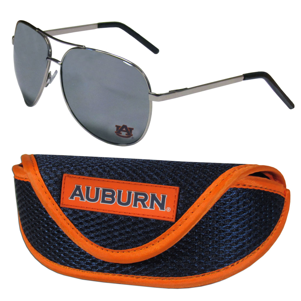 Auburn Tigers Aviator Sunglasses and Sports Case