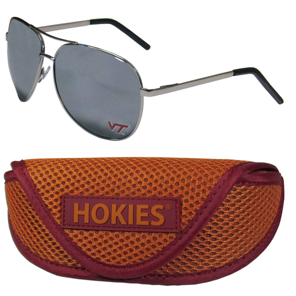 Virginia Tech Hokies Aviator Sunglasses and Sports Case