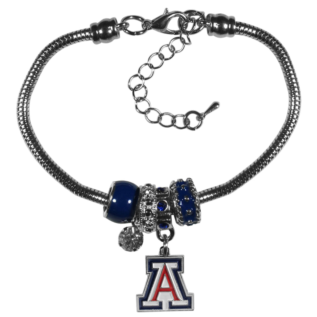 Arizona Wildcats Euro Bead Bracelet