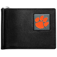 Clemson Tigers Jackets Leather Bill Clip Wallet