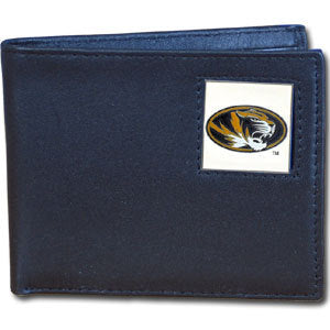 Missouri Tigers Leather Bi-fold Wallet Packaged in Gift Box