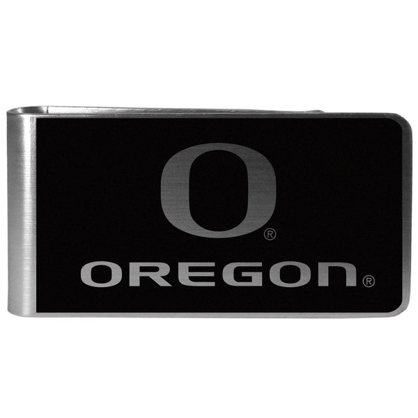 Oregon Ducks Black and Steel Money Clip