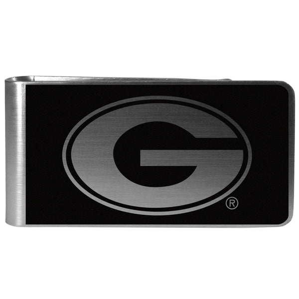 Georgia Bulldogs Black and Steel Money Clip