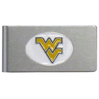 W. Virginia Mountaineers Brushed Metal Money Clip