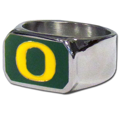 Oregon Ducks Steel Ring