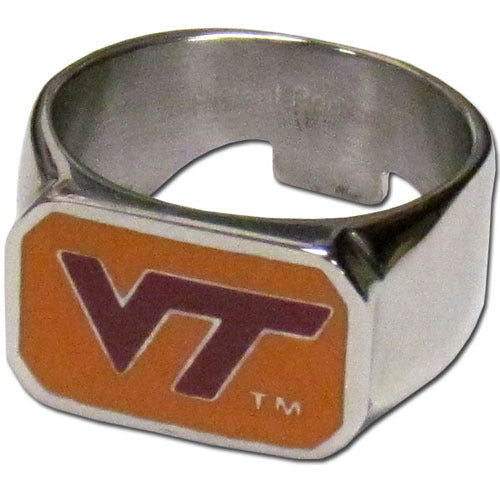 Virginia Tech Hokies Steel Ring