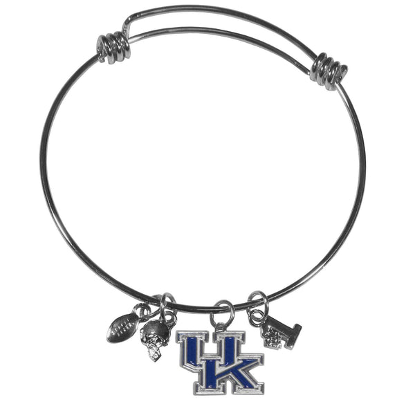 Kentucky Wildcats Charm Bangle Bracelet